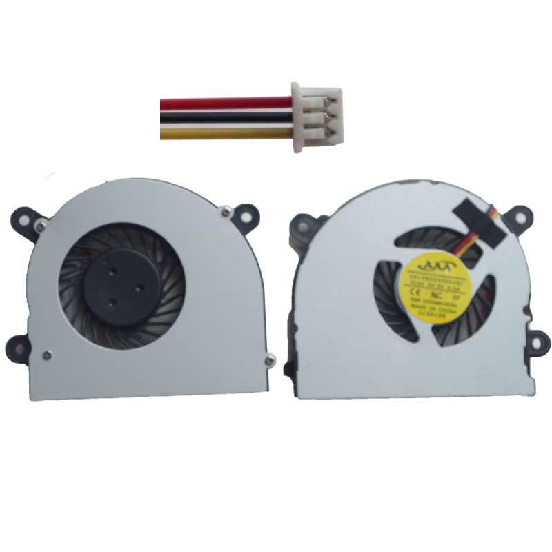 NEW Laptop CPU Cooler Fan For MSI S6000 X600 for CLEVO 7872 C4500 By ADDA AB6505HX-J03 AB6605HX-J03 6-31-W25HS-100 BS5005HS-U89 adda ad7512hb 7530 dc12v 0 24a