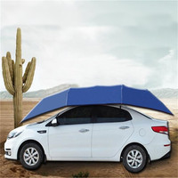 Portable Waterproof Semi Automatic Outdoor Car Vehicle Tent Umbrella Sunshade Roof Cover Anti UV Kit Car Umbrella Sun Shade