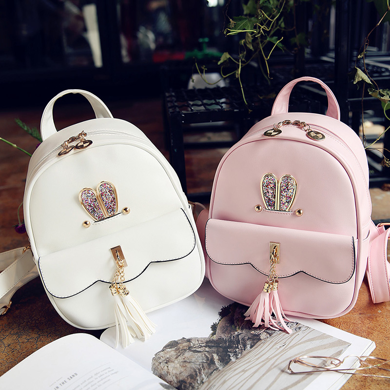 Favocent New Brand PU leather backpack women Solid 12Inch Laptop Women Bag Vintage School Bags mochila