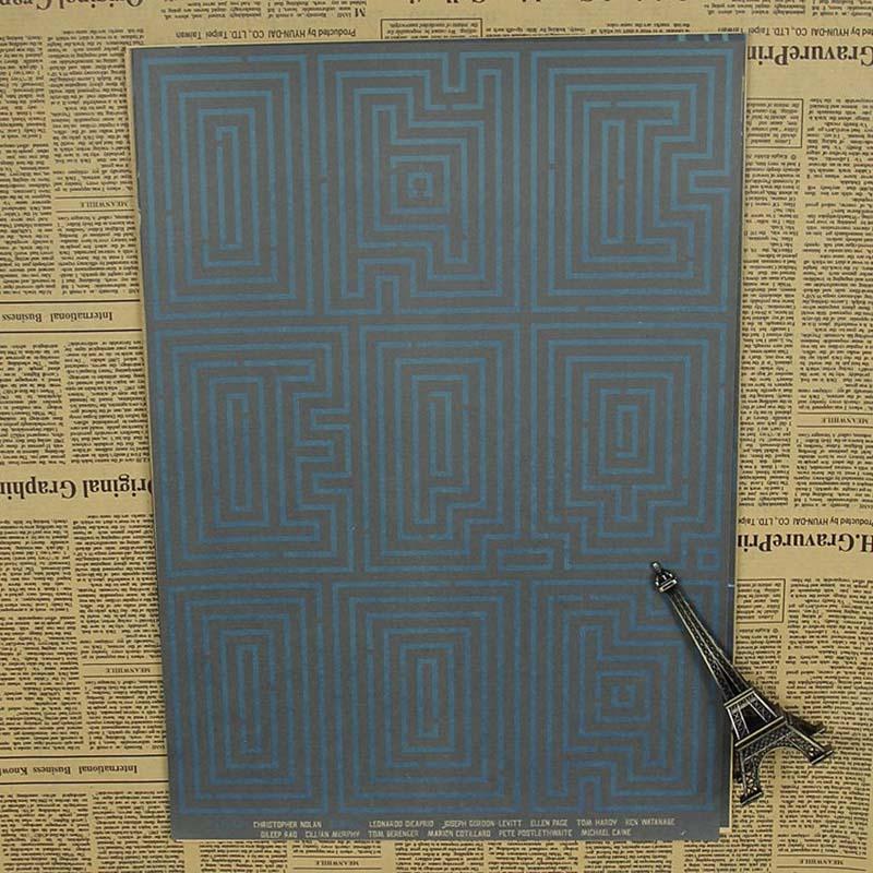 Уютный момент Ретро плакат начальный Леонардо Нолан классический о фильме ретро Kraft Бумага рисунок основной Ретро плакат qt141