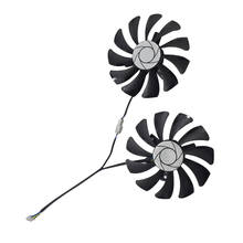 New 1 Pair Graphics Card Fan 85Mm Ha9010H12F-Z 4Pin Cooler Fan Replacement For Msi Gtx 1060 Oc 6G Gtx 960 P106-100 P106 Gtx106(China)