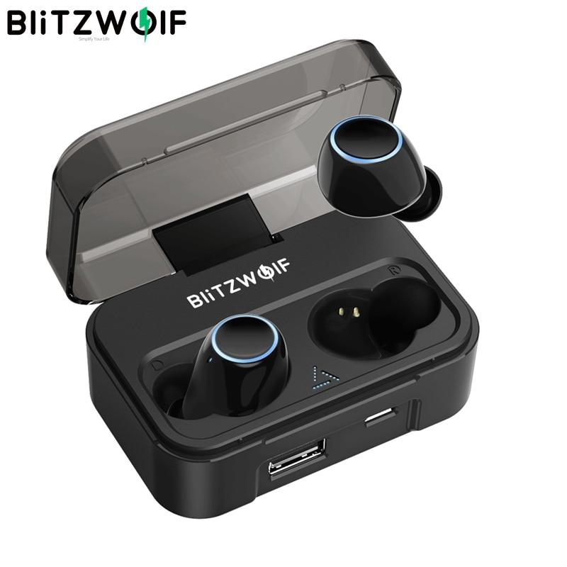 Blitzwolf BW-FYE3 True Wireless Bluetooth 5.0 Earphone 6mm HiFi Stereo Bilateral Calls With 2600mAh Power Bank IPX6 Waterproof