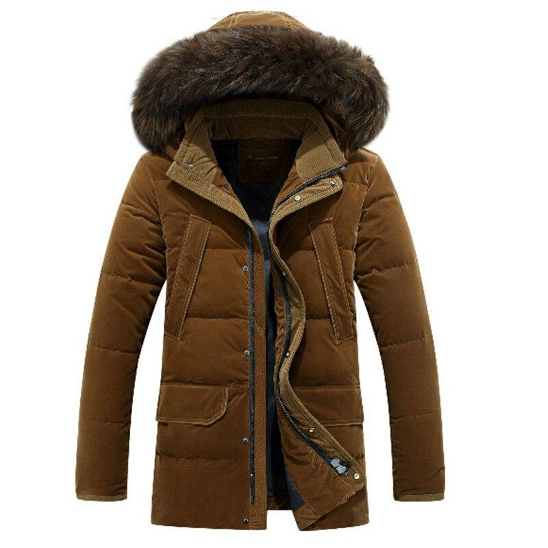 Мужские пальто средней длины, белая куртка на утином пуху, Мужская Толстая теплая русская зимняя куртка 40 градусов XXXXL