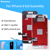 Full Set Complete Assembled LCD Display For iPhone 8 LCD Touch Screen Digitizer Pantalla Parts Front Camera+Ear Speaker 3Gifts