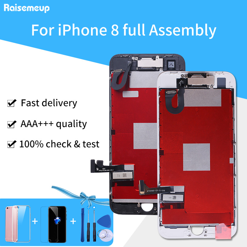 Full Set Complete Assembled LCD Display For iPhone 8 LCD Touch Screen Digitizer Pantalla Parts Front Camera+Ear Speaker 3GiftsFull Set Complete Assembled LCD Display For iPhone 8 LCD Touch Screen Digitizer Pantalla Parts Front Camera+Ear Speaker 3Gifts