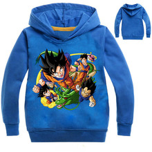 2019 Dragon Ball Hoodies Boys Clothes Z Vegeta Goku Long sleeve sweatshirts Baby Hooded Outwear
