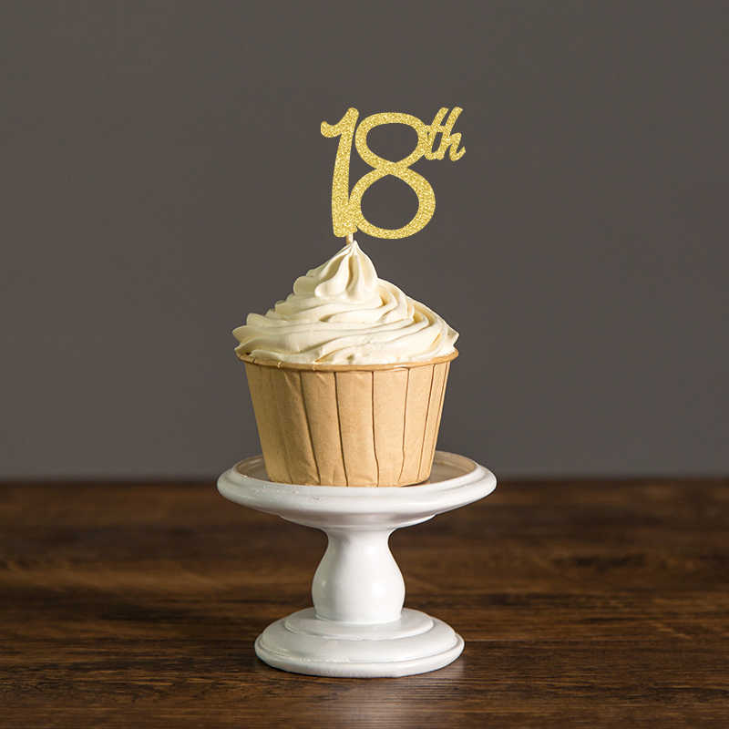 Brilliant 18Th Birthday Cupcake Toppers Silver Black Gold Glitter Eighteen Personalised Birthday Cards Xaembasilily Jamesorg
