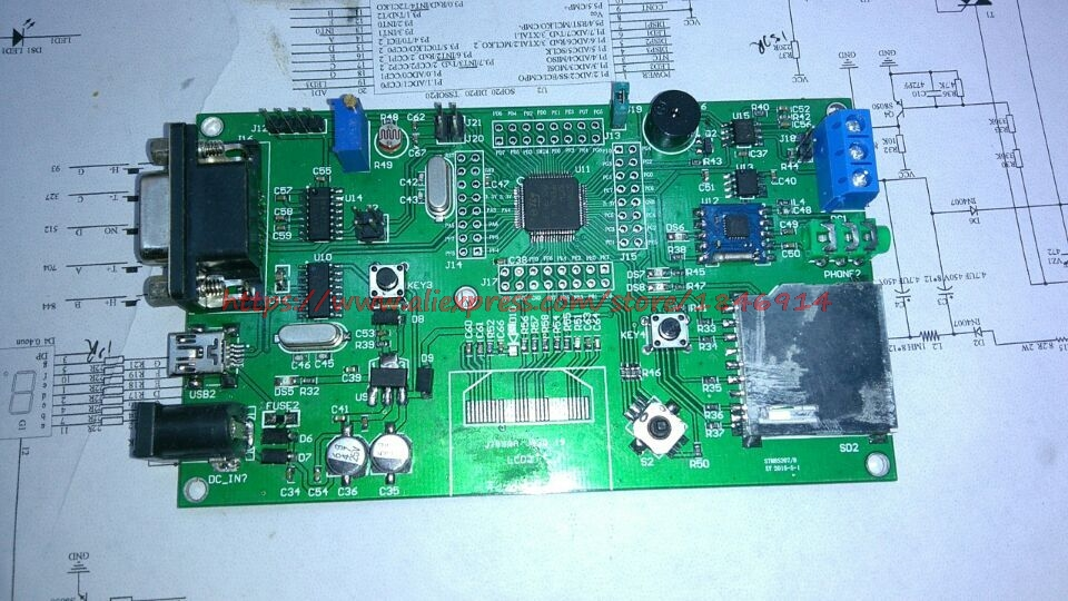 Free Shipping    STM8S208 Development Board STM8 Experimental Board