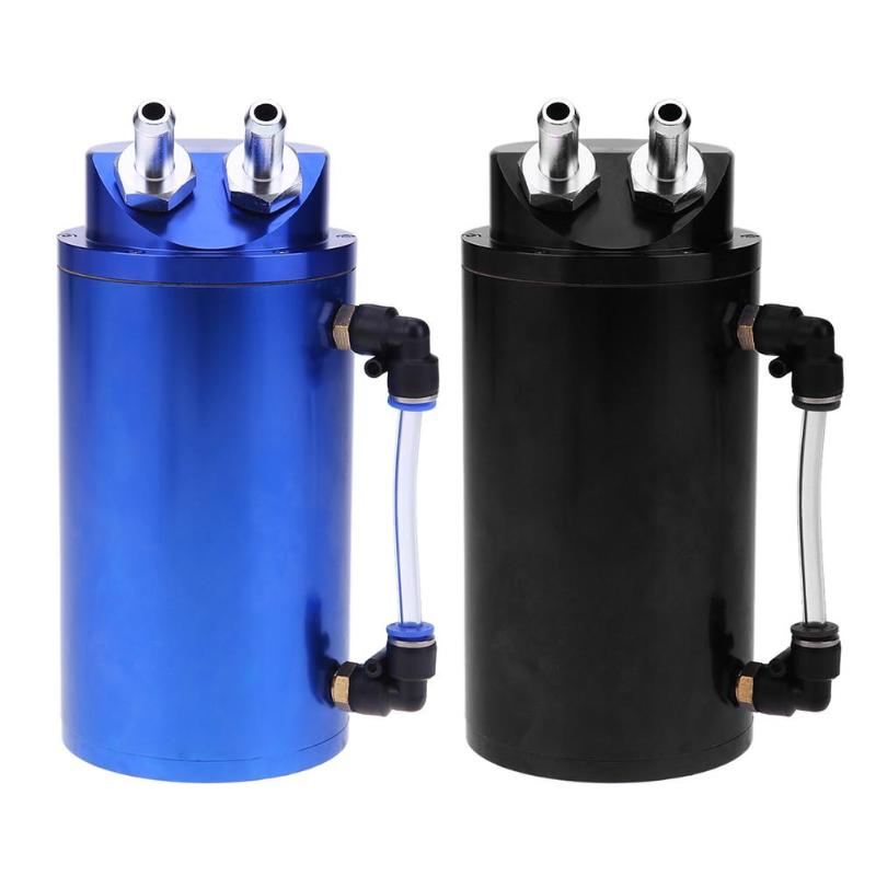 Universal Aluminum Alloy Cylinder 10mm/15mm Engine Oil Catch Tank Can Reservior Fuel Supply System Car Styling Tanks Accessories недорго, оригинальная цена