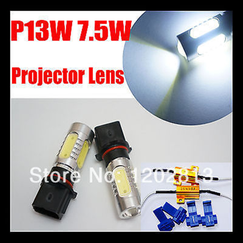 Free Shipping 2 Pcs P13W 7.5W LED High Power Xenon White Daytime Fog Lights Bulbs for Skoda Yeti Canbus