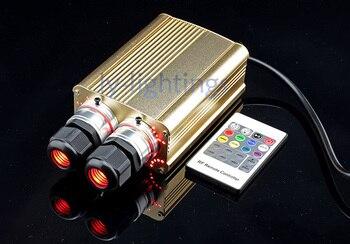 Business decoration optic fibre light engine 35W RGB led light emmiter RF remote color change optical fiber light Double output