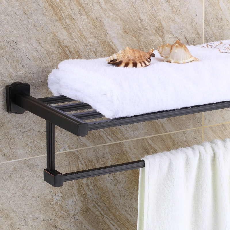 European Bronze Black Towel Rack/Shelf Antique Copper Brushed Towel Holder Carved Towel Bar Mounting Bathroom Accessories C66 серьги каприз натуральный раухтопаз гипоаллергенный ювелирный сплав lisa lone испания