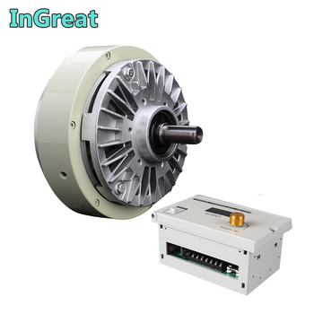 Magnetic Powder Brake 6Nm 0.6kg DC 24V One Single Shaft W/Manual Tension Controller Kits for Bagging Printing Dyeing Machine цена 2017
