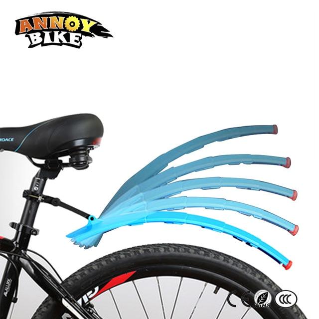 Telescopic Bike Mud <font><b>Fender</b></font> Set Folding MTB Front + Rear Mudguards Bicycle <font><b>Fender</b></font> With LED Tail Light Quick release mud flap