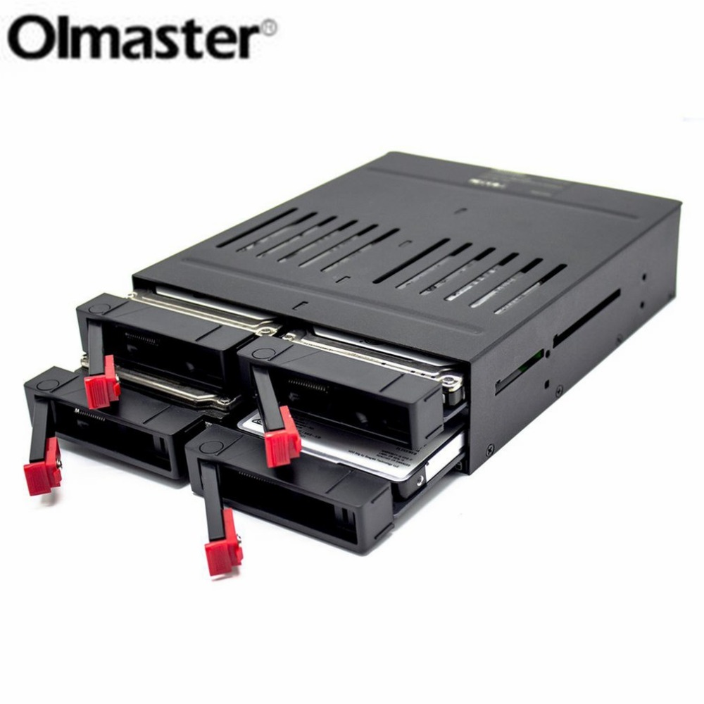 OImaster Four 2.5 Inch Slots SATA Internal Rack Hard Drive Case Internal Mobile Rack With LED Indicator Capacity Expansion