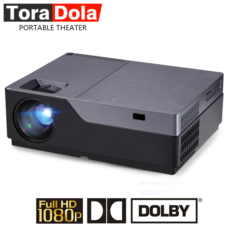 TORA DOLA 1920*1080 P LED Projector Suporte AC3. 5500 Lumens Full HD Theater (Opcional Android. WIFI Visor do Receptor) M18. LED TV