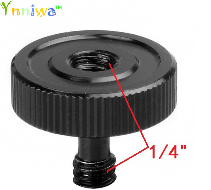 10pcs/lot Black 1/4 Male to 1/4 Female Screw Adapter For Camera Tripod L Type Bracket Stand Holder Hot Sale Best Promotion image
