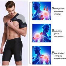 Adjustable Breathable Gym Sports Single Shoulder Support Back Brace Guard Strap Wrap Belt Band Pads Black Bandage backunterlage
