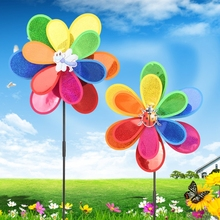 Hot Sale Sequins Insect Windmill Whirligig Wind Spinner Home Yard Garden Decor Kids Toy