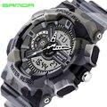 2016 Nueva Marca de Moda SANDA Choque Reloj de Lujo de Los Hombres Reloj de Cuarzo Analógico Digital Hombres G Estilo Impermeable Militar Deportes relojes