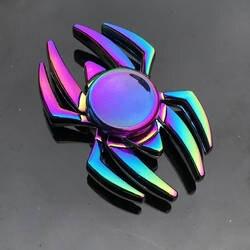 Спиннер для пальцев, для офиса, для снятия стресса, для снятия стресса, гироскоп, цветок/Башня/паук, металлический ручной Спиннер, Tri Spinner