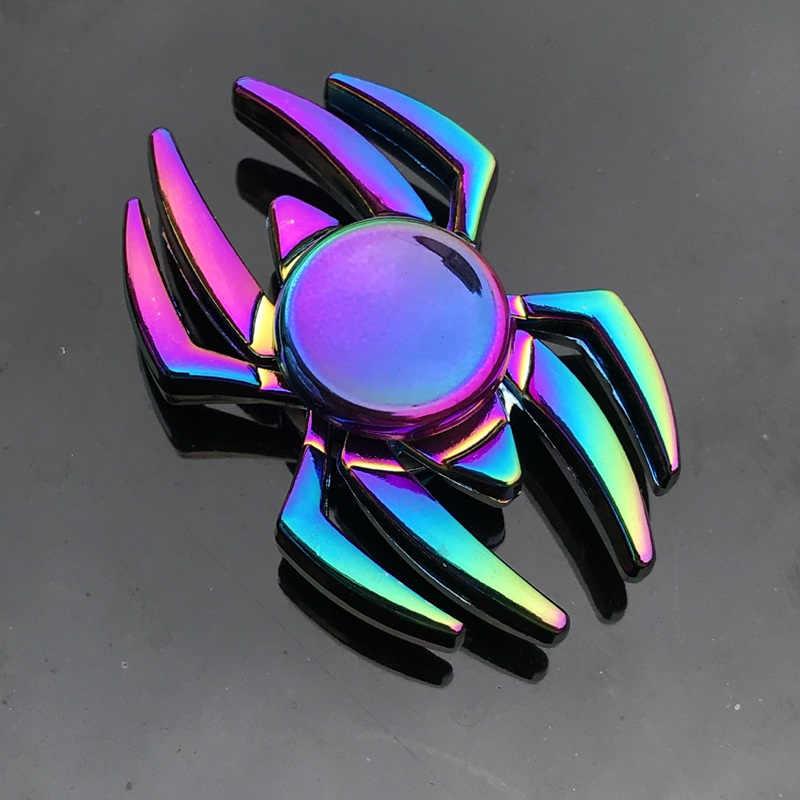 Спиннер для пальцев, для офиса, для снятия стресса, для снятия стресса, гироскоп, цветок/Башня/паук, металлический ручной Спиннер, Tri Spinner, модель
