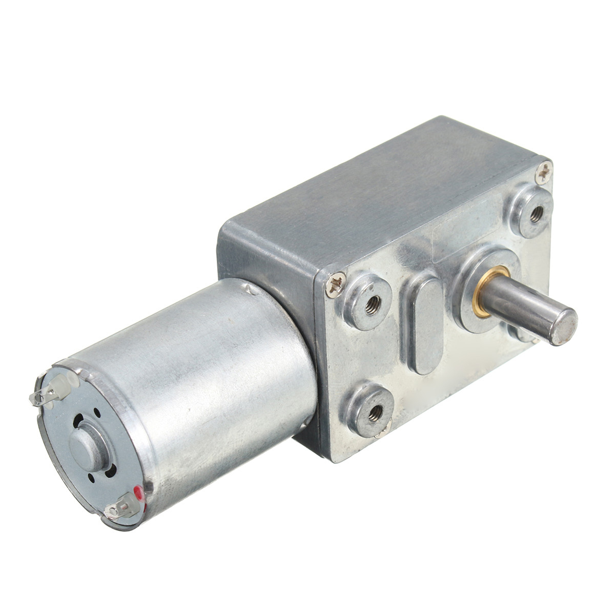 DC 12V 0.6RPM Low Speed High Torque Turbo Worm Geared Motor 370 Right Angle Gear