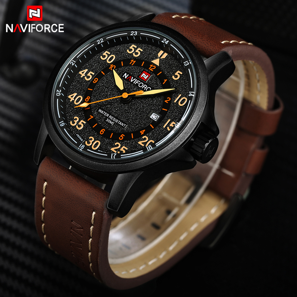 где купить NAVIFORCE Top Luxury Men's Watch Fashion Casual Men Leather Hour Military Quartz Watches Japan Movt Male Clock Relogio Masculino по лучшей цене
