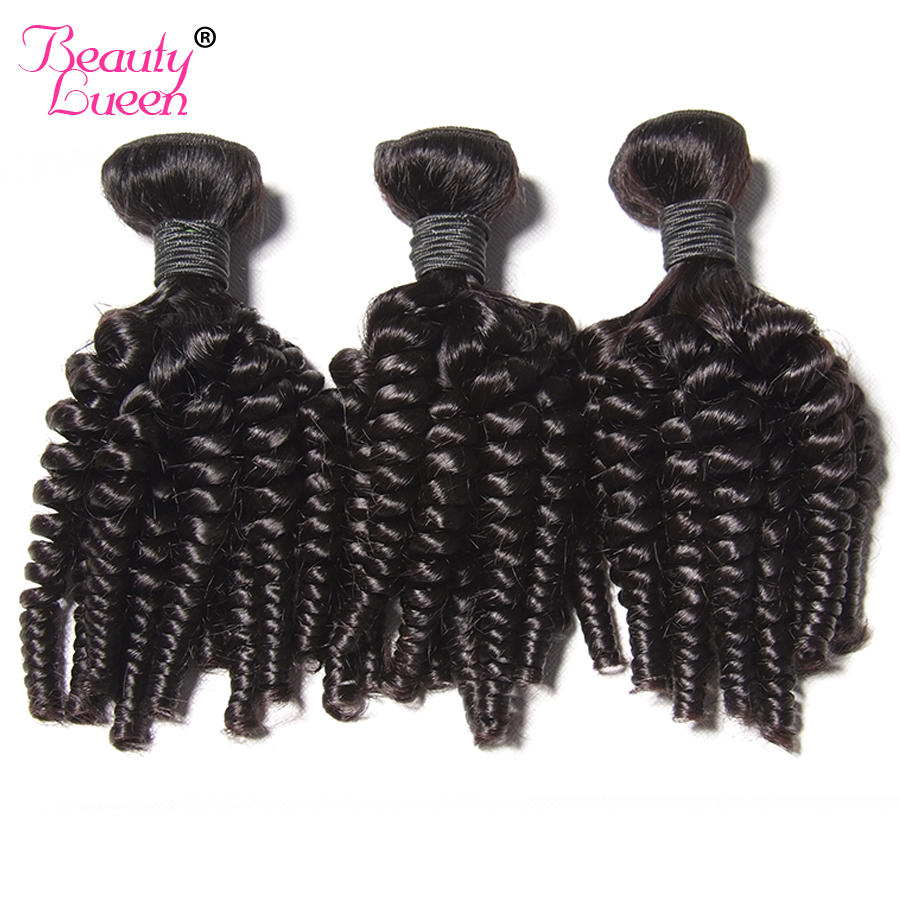Beauty Lueen Afro Kinky Curly Hair Human Hair 3 Bundles Deal Natural Color Brazilian Hair Weave