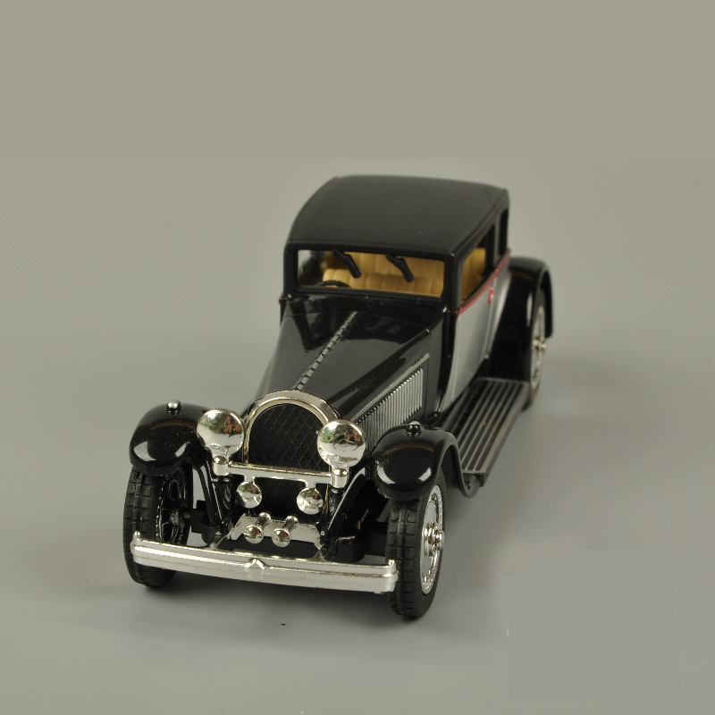 Veículos Miniatura e de Brinquedo bugatti modelo de carro puxar Texture of Material : Alloy
