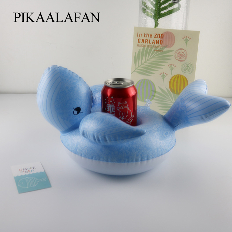 PIKAALAFAN Whale Inflatable Cup Holder Pool Party Drink Floats Inflatable Coasters Float Drink Cup Holder Water Toys
