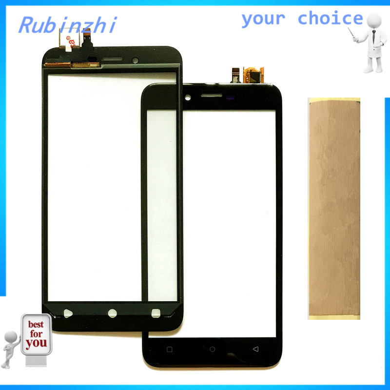 RUBINZHI + Tape Mobile phone touch panel For DEXP Ixion ES1050 touch screen digitizer front glass touchscreen replacement sensor