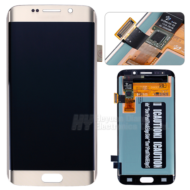 100% bom teste para samsung galaxy s6 edge lcd screen display digitador touch g925v/g925i g925f freeshipping tela lcd