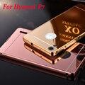 Зеркало алюминиевая рама + пластиковую крышку обратно чехол для Huawei p7, Huawei Ascend P7 телефон сотовый