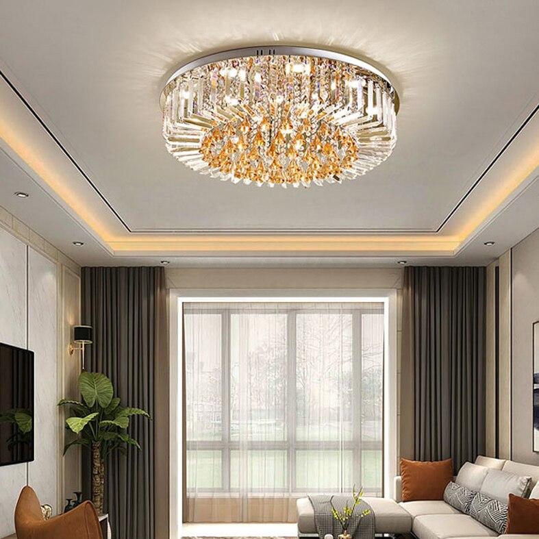 HA CONDOTTO LA Luce di Soffitto K9 di Cristallo Moderna Lampada A Soffitto Per La Casa Apparecchio di Illuminazione Dell'interno Caldo/Neutro/Freddo Bianco 3 Colori dimmerabile - 5