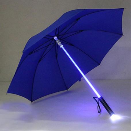 7 Colors LED Star Wars Umbrella Golf Umbrella Rain Men Women Light Flash Night Protection Car FlashLight Transparent Umbrella