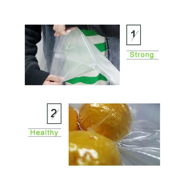 2 Roll 12*500cm 15*500cm 17*500cm 20*500cm 25*500cm 28*500cm Vacuum Sealer Packing Machine Bags for Food Dots Grain Packer Bag