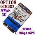 Desbloqueado opción GTM382 PCI-E 7.2 Mbps módem WWAN GTM 382 GPS 3 G WWAN HSDPA