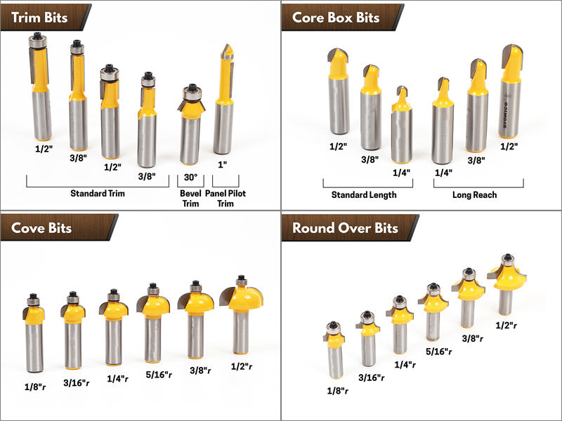 """Image 2 - 1/2"""" Shank 70 Bit Professional C3 Carbide Router Bit Set   CHWJW 17702-in Milling Cutter from Tools"""