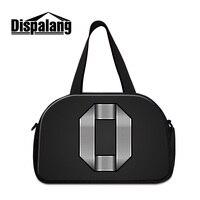 Dispalang bolsos del recorrido de los hombres bolsos del equipaje 3D number 0 impresión bolsa de lona negro fresco semana bolsos al por mayor