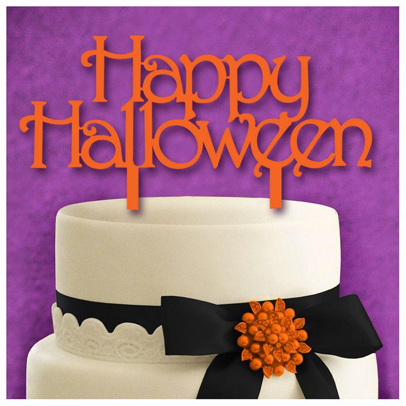 Halloween English Letter Acrylic Cake Set Exquisite Cake Decoration
