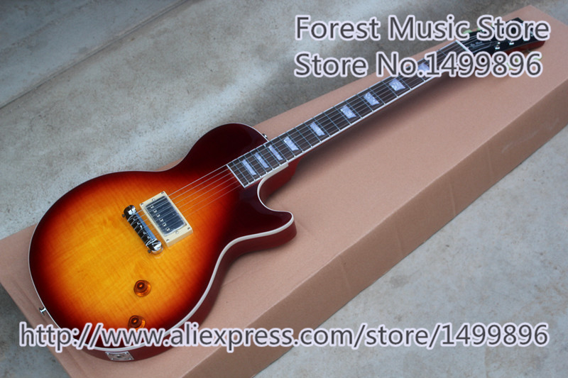 High Quality Custom LP Standard Electric Guitar Chinese Single Pickup As Picture For Sale free shipping 2017 new arrival high quality flame maple top g les standard brown electric guitar lp guitar