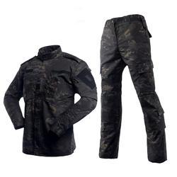 Мультикам черный военная униформа, камуфляж костюм татико Тактический военная Униформа камуфляж Airsoft Пейнтбол оборудования одежда