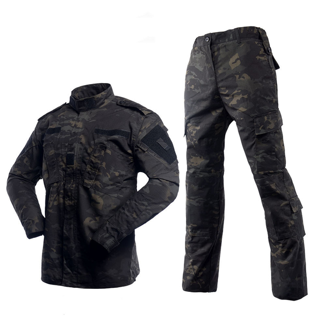 Black Military Uniform Camouflage Suit Tactical Military Airsoft Paintball Equipment Clothes