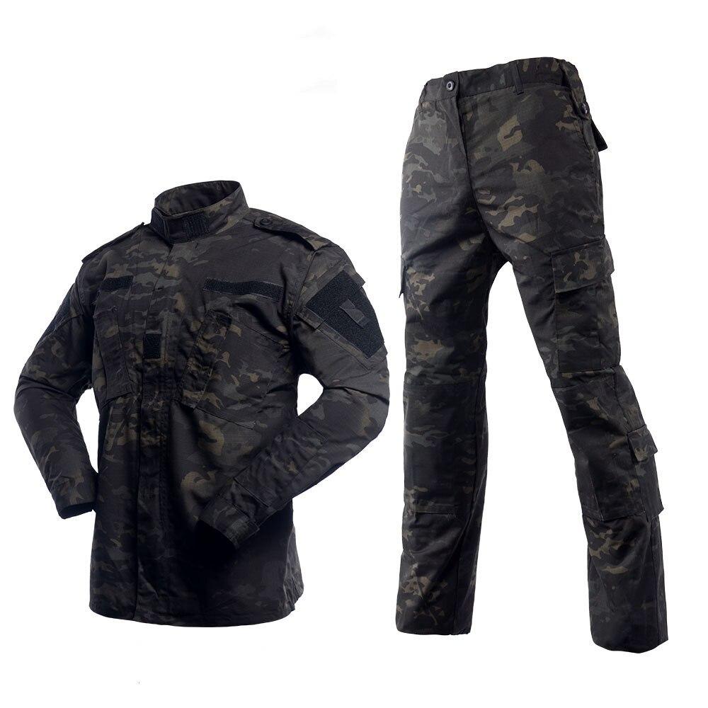 Tenue de Camouflage uniforme militaire noir Multicam Tatico tactique militaire Camouflage Airsoft vêtements d'équipement de Paintball