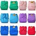 Jinobaby Color liso reutilizable del paño del bebé de doble fuelle a prueba de fugas adapta para bebés recién nacidos a 38 libras pañales de tela pañal de tela