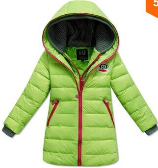 7ac5c61221b9 One piece cartoon winter jacket girls coat kids down Coats children ...