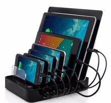 Multifunción $ number Puertos Estación de Carga USB negro 64.89 W Cargador USB para Múltiples Dispositivos Android teléfonos móviles de Apple tablet ipad iphone