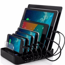 Multi function USB Charging Station black 7-Port 64.89W USB Charger for Multiple Android A