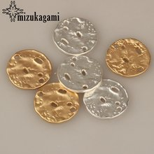 10 шт/лот 20 мм Золотая круглая монета из цинкового сплава подвески